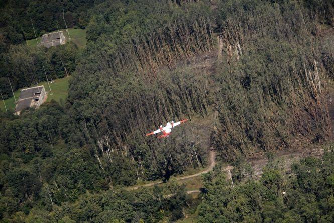 Що залишилося на території згорілих калинівських складів. ФОТО із висоти
