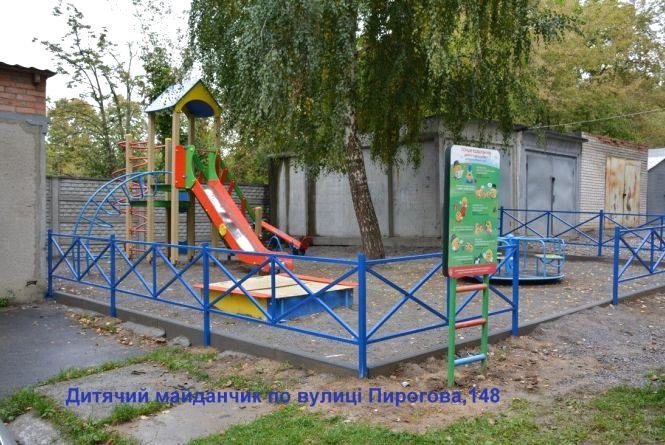 По місту встановлюють нові дитячі і спортивні майданчики. Де саме?