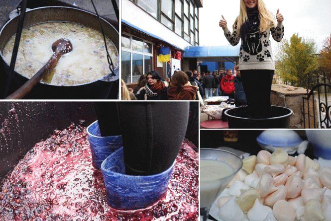 Як на фесті-пікніку «Громадська кухня» ногами чавили 50 кілограм винограду