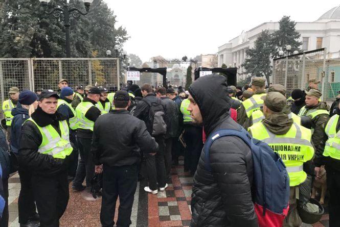 Київ зустрів з поліцією. Чому вінничани поїхали мітингувати під Верховну Раду
