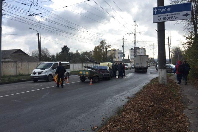 Лоб у лоб: у Вінниці не розминулося два автомобілі (ФОТО)