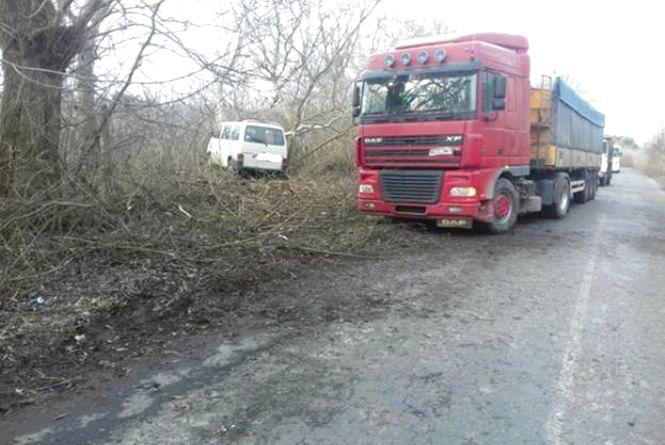 Водій «Ауді А6» обганяв вантажівку. Чому ж бус врізався в дерево?