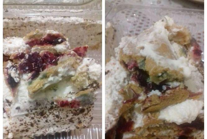 """Вінничанка знайшла  """"плісняву"""" у купленому торті. Виробник: то не пліснява, а вишні"""