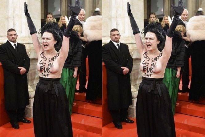 Знову Аліса Виноградова: Femen влаштували акцію проти Порошенка в Австрії