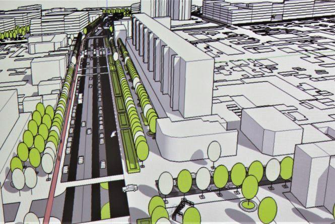 Зелена миля, нова колія та бізнес-центри. Як змінять проспект Коцюбинського?