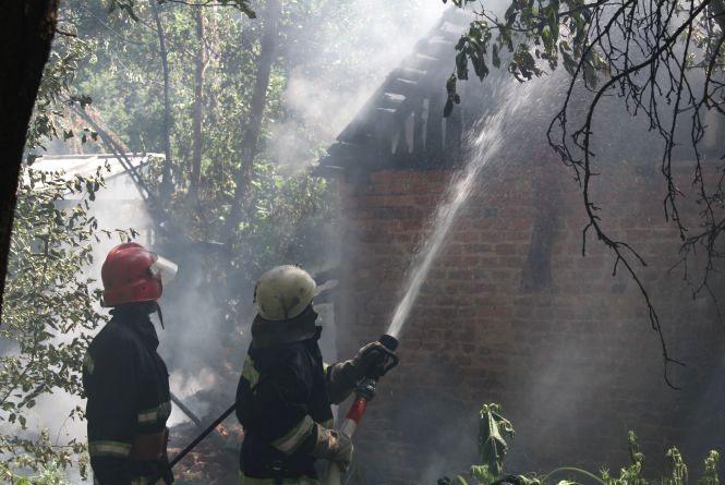 Пожежа у Слов'янці. На Писарева горів сарай