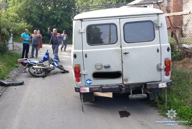У Жмеринці через ДТП водій моторолера опинився в лікарні