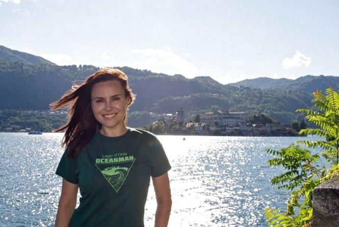 """Новая победа OceanWoman: Анастасия Даугуле покорила горное озеро в Италии (Пресс-служба """"Интер"""")"""