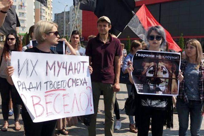 «Ні цирку з тваринами» – у Вінниці пройшла акція протесту