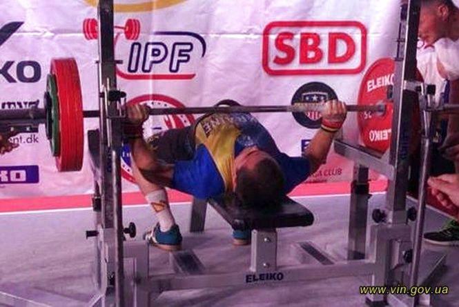 Спортсмен із Вінниці встановив новий рекорд світу з пауерліфтингу