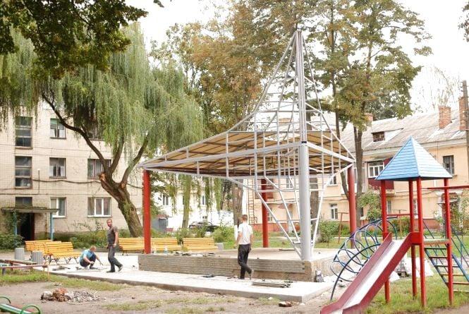 На Тяжилові завершують облаштовувати літній театр