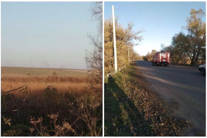 Біля села Уланів впав військовий літак. Інформація з місця: два пілоти розбилися