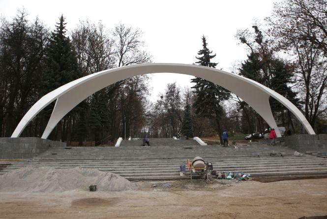 Арка буде без «Щедрика». Як триває ремонт головного входу в Центральний парк