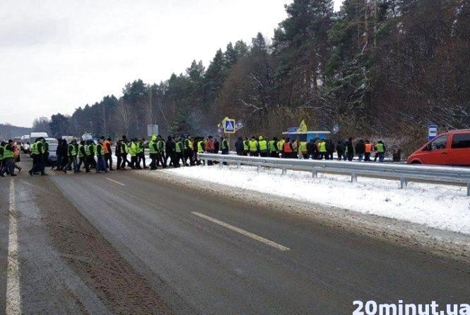Протест власників «євроблях»: перекриті дороги та мітинг під стінами ОДА