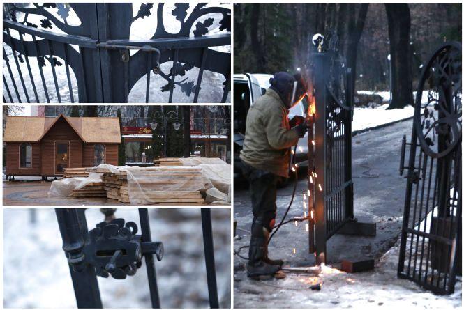Фото дня: Нові ворота в Центральний парк і будівництво біля міської ради