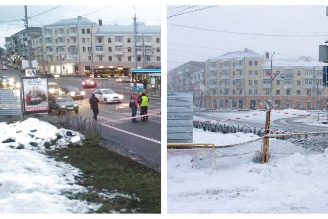Прибрали паркан, який затуляв огляд дороги на «зебрі» біля площі Гагаріна