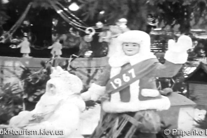 Новорічна Вінниця півстоліття тому: дивіться відео, якою раніше була ялинка