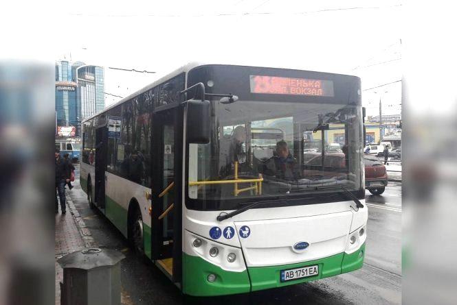 Китайський електробус «Skywell» їздить у Вінниці на маршруті №25