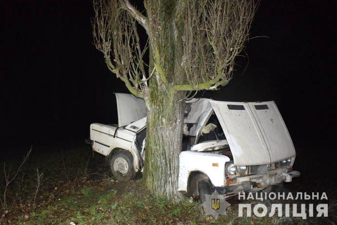 Смертельна ДТП у Шаргородському районі: «ВАЗ» зіткнувся з деревом