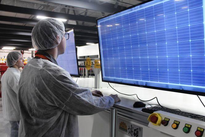 Біля ВПЗ відкрили завод, де роблять сонячні панелі