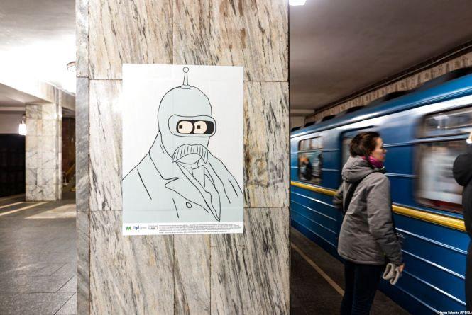 Вінницький активіст порізав портрети «Квантового Шевченка» у Києві