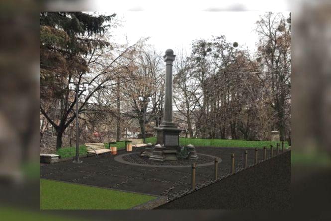 За ремонт скверу в центрі Вінниці дають 1,2 мільйона гривень. Там буде ще і чорна колонна