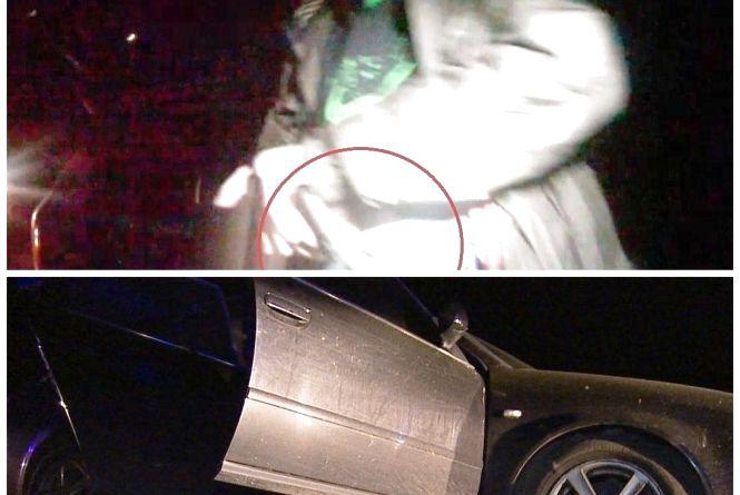 «А це що у вас там?» З'явилося відео перестрілки пасажира «Ауді» з поліцейськими