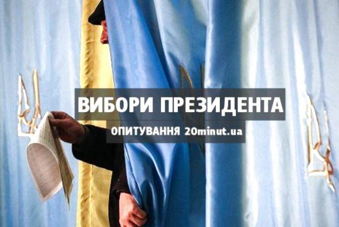 Вибори Президента-2019: за кого будете голосувати? Опитування 20minut.ua