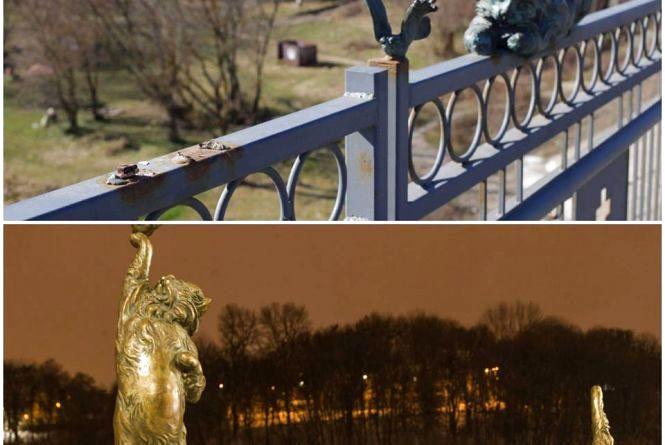 На Київському мосту вкрали фігурку котика. Обіцяють 5 тисяч гривень за крадія