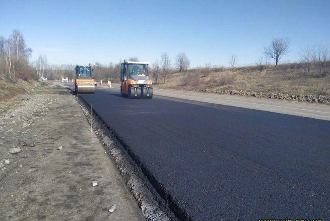 На Вінниччині частково ремонтують міжнародну трасу Go Highway