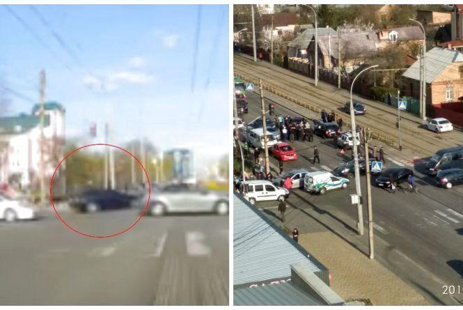 З'явилося відео аварії, через яку на Келецькій стояли тролейбуси