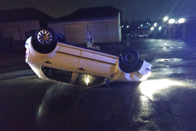 П'яна водійка без посвідчення перекинулася на Skoda Fabia