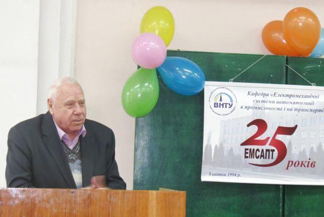 Нинішній і колишній ректори ВНТУ виступили на 25-річчі «гетьманської» кафедри