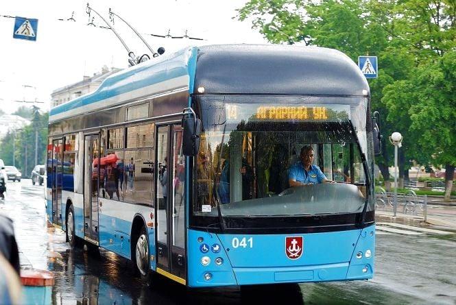 Перший тролейбус «Вінниця» вийшов на маршрут №5
