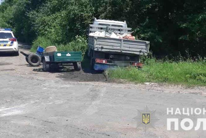 У Ямпільському районі не розминувся мотоблок та «ГАЗ». Є потерпілий