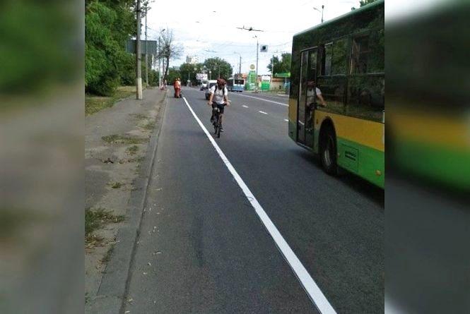 «Лікуємо вулицю від аварійності» На Лебединського звузили дорогу на 1 метр