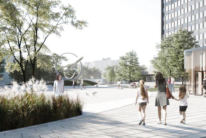 Кияни опублікували проект нової площі між Будинком офіцерів та «Ювілейним»