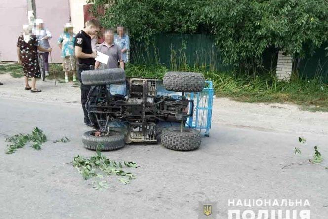 Смертельна ДТП: водій на квадроциклі не вписався у розворот та перекинувся