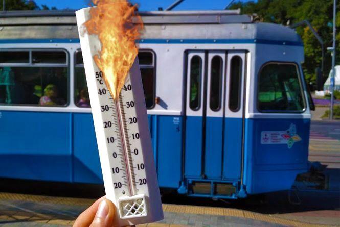 «Сауна на колесах»: скільки градусів всередині трамваю, тролейбуса та маршрутки
