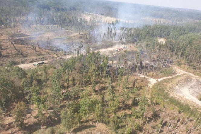 Вибухи у Калинівці: показали фото місця пожежі, які зробили з гелікоптера