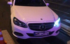 Нічна погоня на Поділлі: заблокували водія «під кайфом» на білому Mercedes