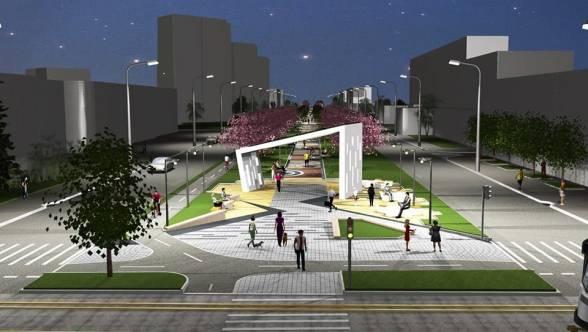 Декоративна арка на проспекті, що буде на перехресті з Келецькою