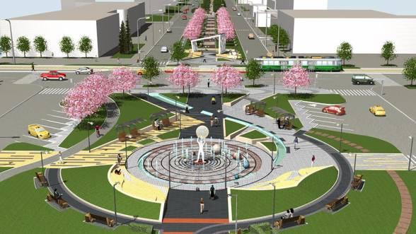 Пішохідний фонтан на Келецькій вже зроблений. Дві частини проспекту будуть виконані в схожему стилі