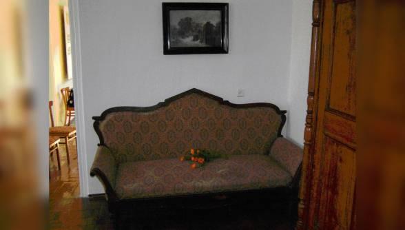 Унікальним експонатом музею є диван на якому провів свою останню ніч  композитор.