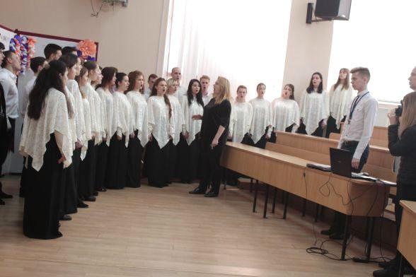 Університетський хор виконав музичні твори для присутніх