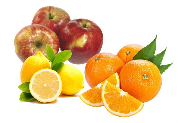 """Продуктовий набір №6 """"Фруктовий"""": Апельсин - 1кг; Лимон - 2шт; Яблука - 1кг."""