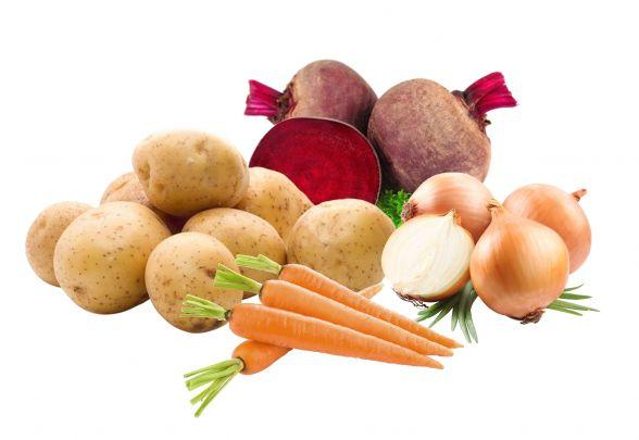 """Продуктовий набір №5 """"Овочевий"""": картопля - 3кг; морква - 1кг; цибуля - 1кг; буряк - 1кг."""