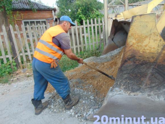 Ремонт дороги в Житомире