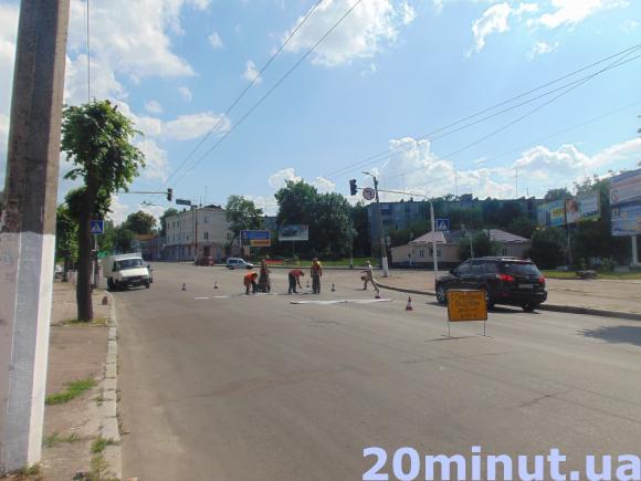 Разметка на дороге в Житомире